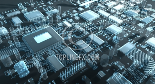Abstract circuit board or mainboard