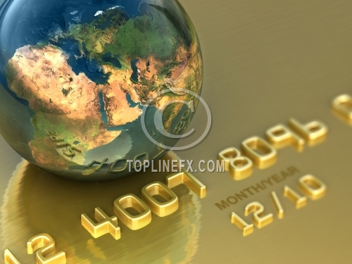Abstract international gold credit card