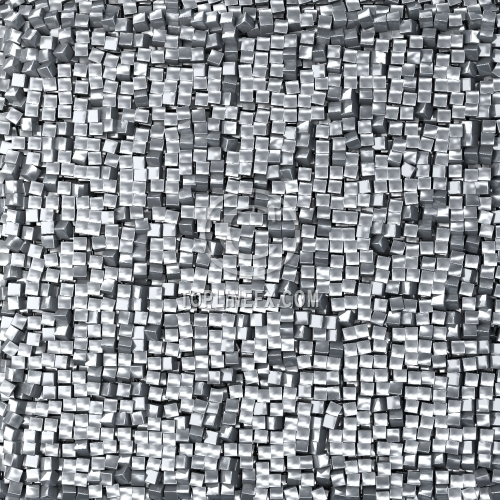 Abstract silver pixel background,  made of metallic cubes.