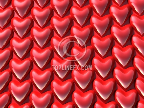 Background from small red hearts