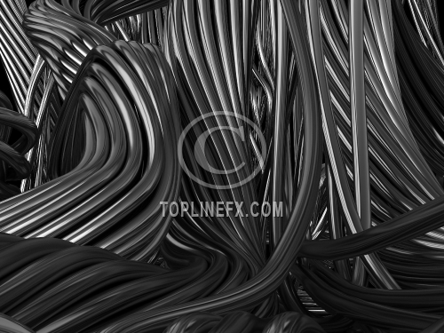 Black abstract cable