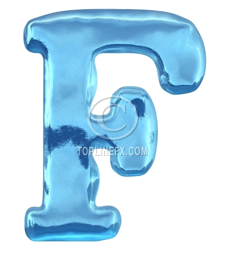 Blue ice  letter f