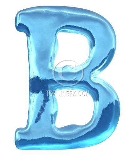 Blue ice alphabet letter b