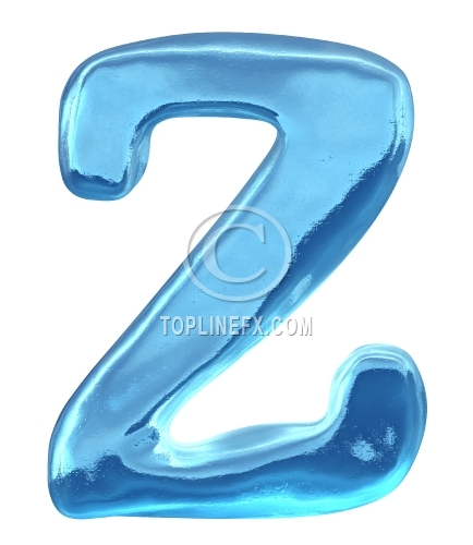 Blue ice alphabet letter z