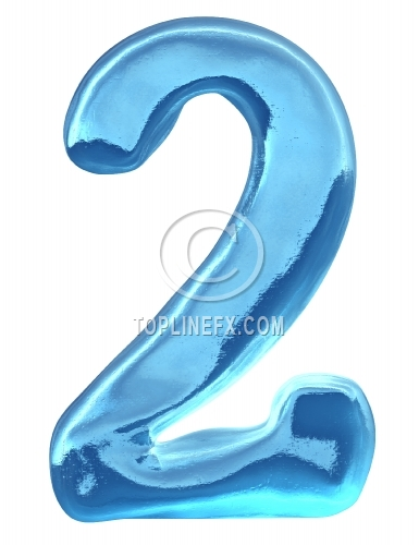 Blue ice alphabet Number 2