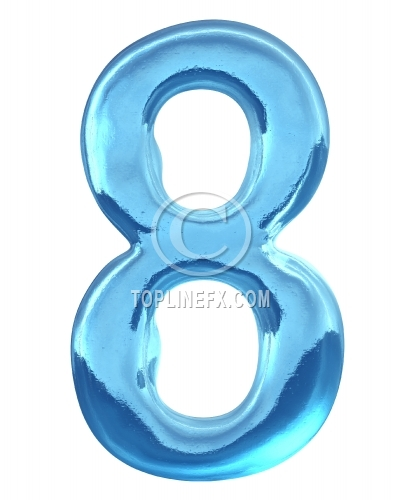 Blue ice alphabet Number 8