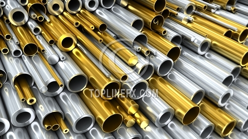 Brass and Steel Tubing Illustration