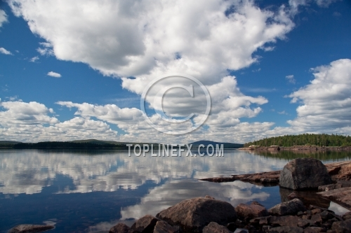 Clouds Lake Karelia