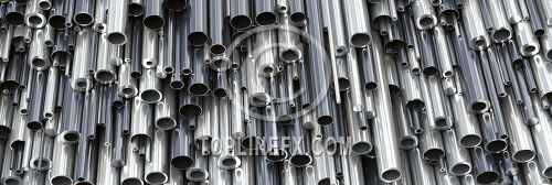 Different diameters metal round tubes