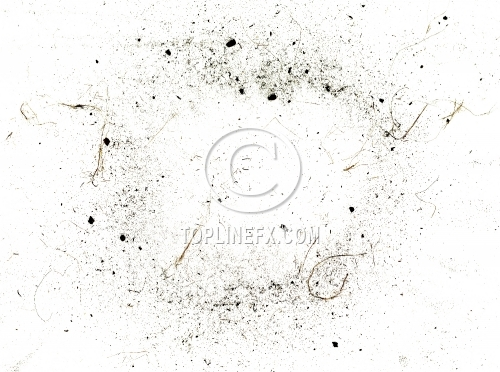 Dust and dirt on white background