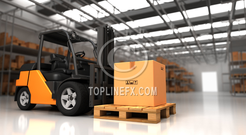 Forklift Warehouse Image