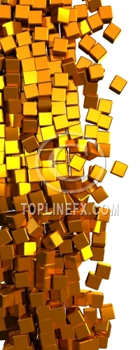 Glamour  gold cubes