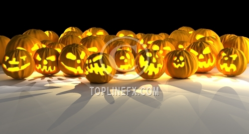 Halloween pumpkin invasion
