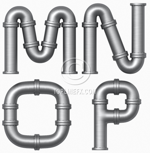 Metal pipe letters