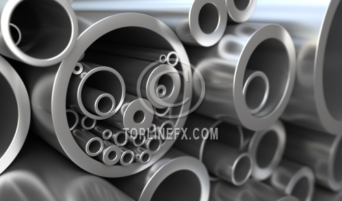 Metal pipes different diameter