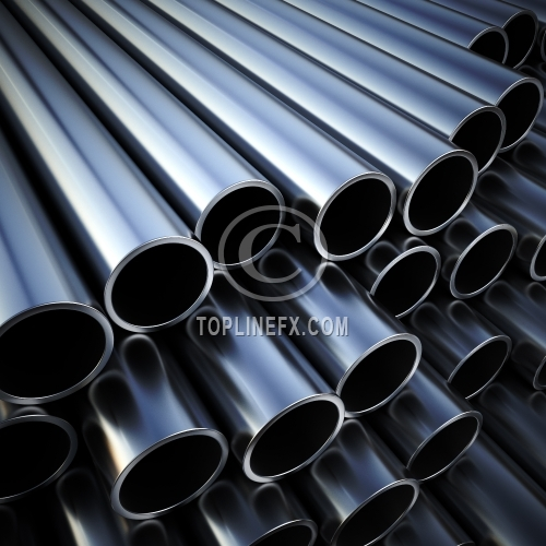 Metal pipes on warehouse