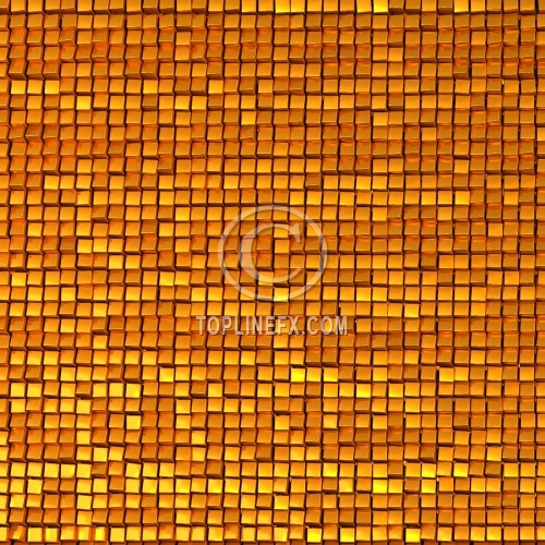 Shine mosaic background made of golden cubes 02