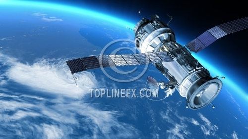 Space Station travels in orbit around Earth