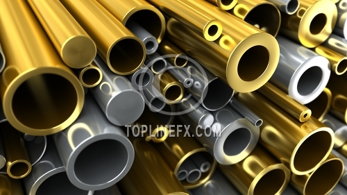 Steel and brass pipe