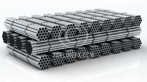 Steel pipe warehouse